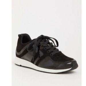 Black Patent Leather Sneaker Wide Width